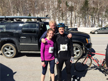Tuckerman's Inferno team with fiance Amy and brother Paul