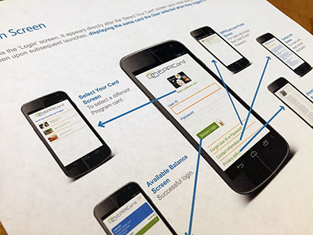 Image of a troubleshooting guide of the mobile app for the Call Center