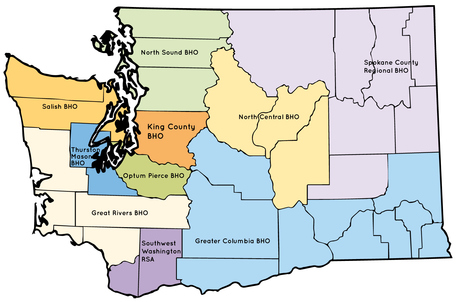 Washington State Map with FYSPRT regions