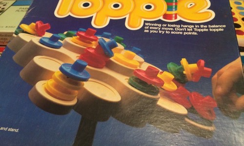 80s Topple board game
