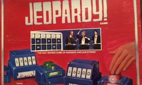 Electronic Jeopardy 80s board game