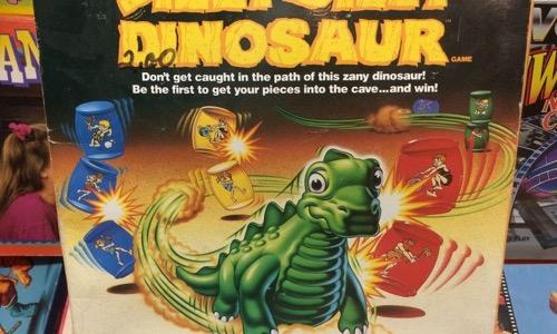 Dizzzy Dizzy Dinosaur board game from the 80s