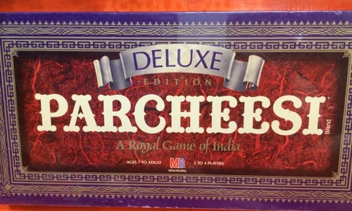 Deluxe Parcheesi board game