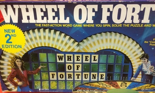 Wheel of Fortune 80s board game
