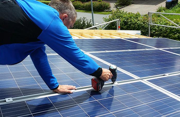 Integrerte solcellepaneler