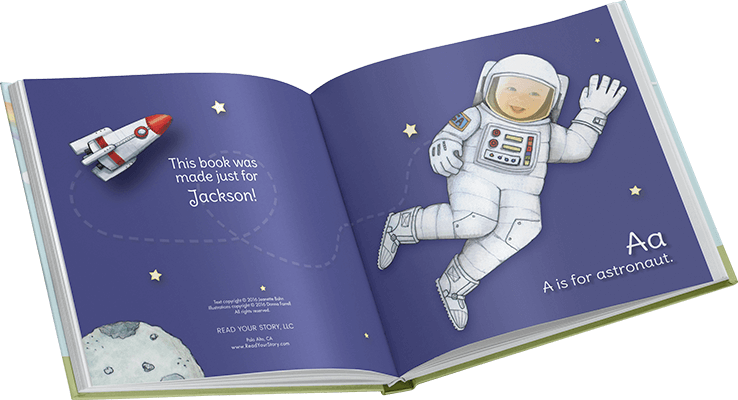 Personalized alphabet books starring the greatest hero of all time - your child!