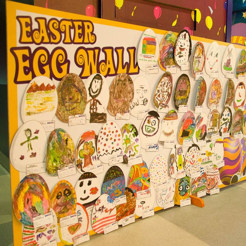 Easter Egg Wall Activity