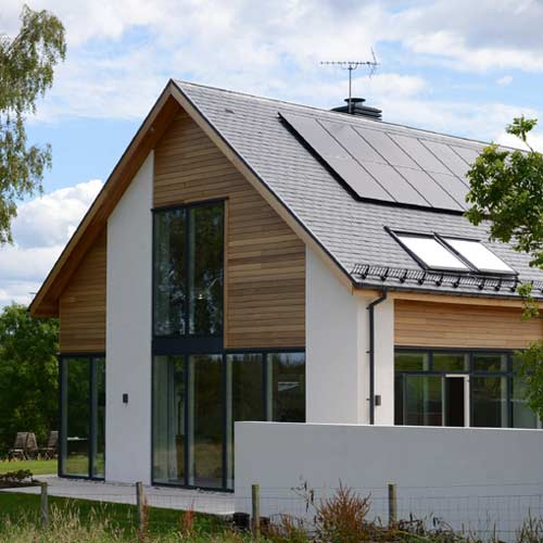 Reduced carbon footprint yet high comfort family home