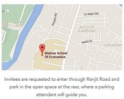 Venue: Madras School of Economics, Gandhi Mandapam, Kotturpuram, Chennai