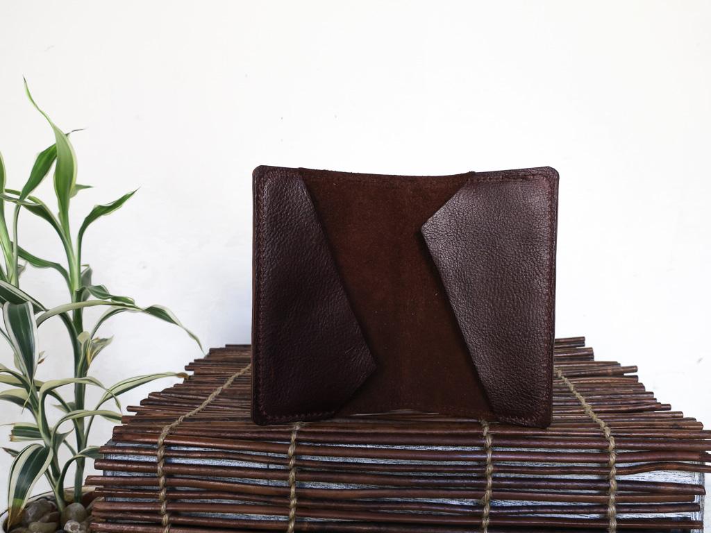 Uphill Designs - Mesa passport and field notes holder - sienna brown - open