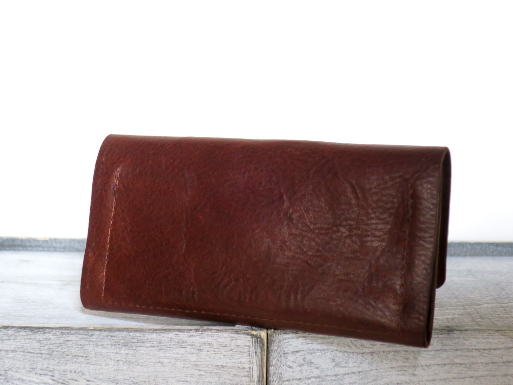 Uphill Designs - Annette leather wallet clutch - sienna brown - back