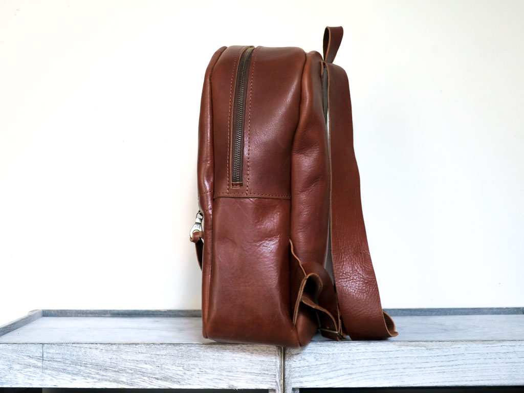 Uphill Designs - Aster leather backpack - english tan - side