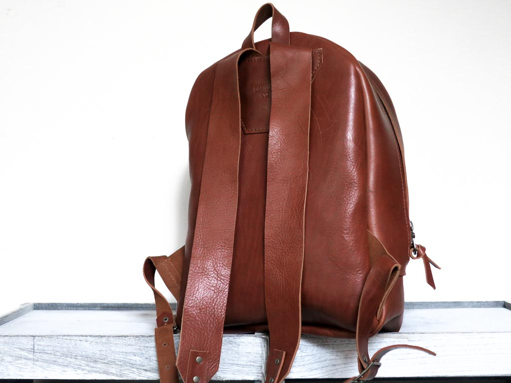 Uphill Designs - Aster leather backpack - english tan - back