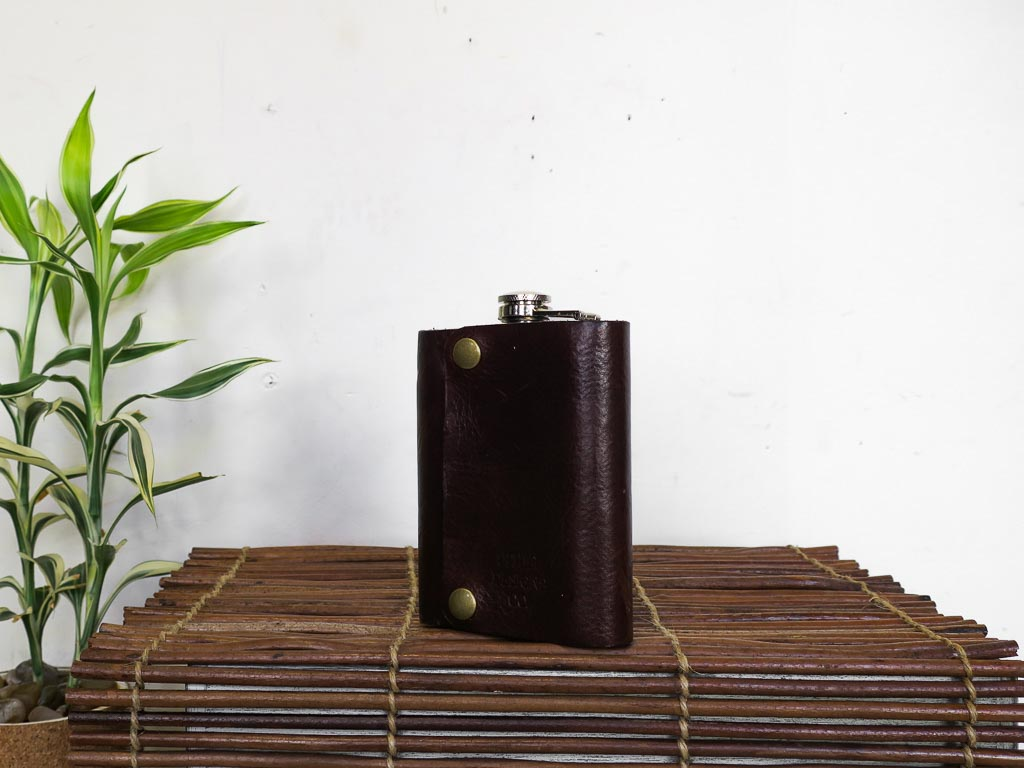 Uphill Designs - Bailey Flask - Sienna Brown - large back