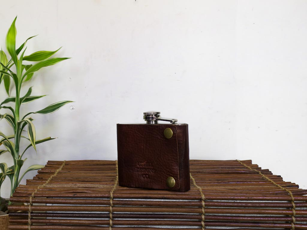 Uphill Designs - Bailey Flask - Sienna Brown - small back