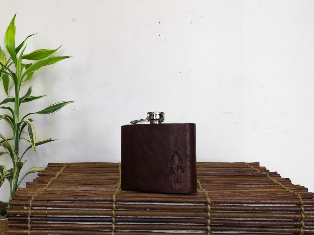 Uphill Designs - Bailey Flask - Sienna Brown - small front