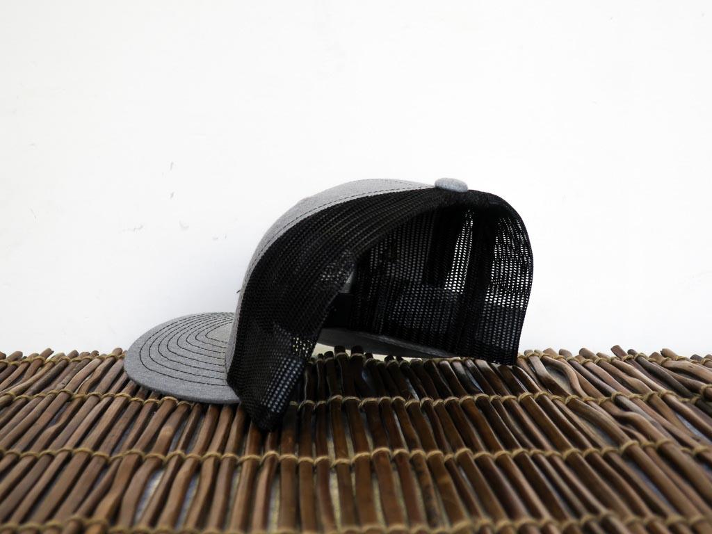 Uphill Designs - trucker hat - light grey - back
