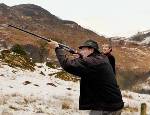 Clay pigeon shooting organised through The Pierhouse Hotel