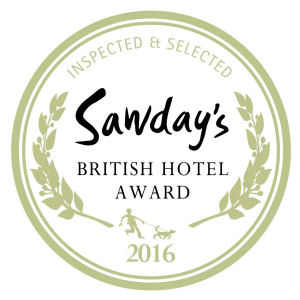Favourite Newcomer Award in the Alastair Sawday's British Hotel and Inn Guide 2016