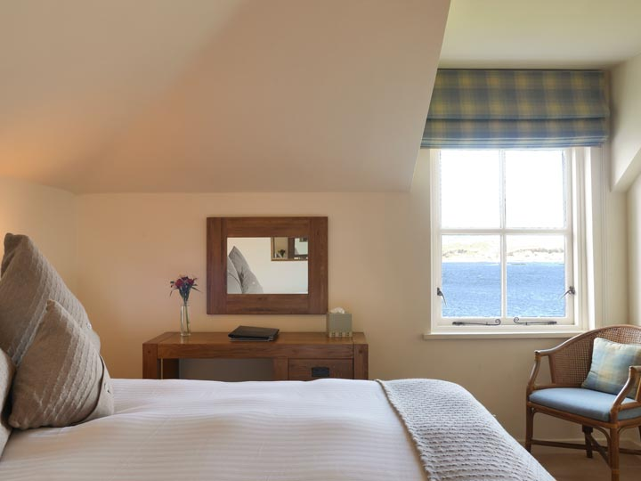 Sea view room at The Pierhouse Hotel