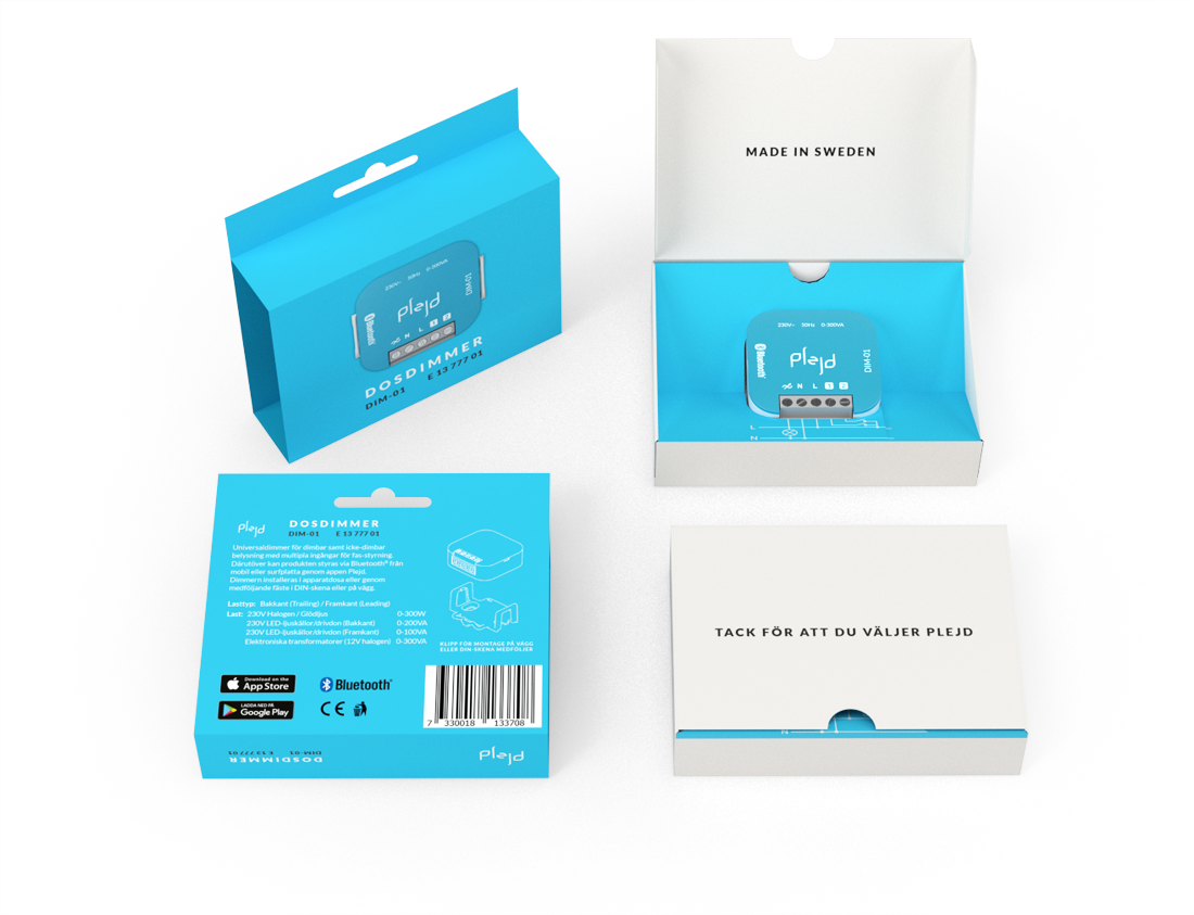 Plejd smart lights packaging