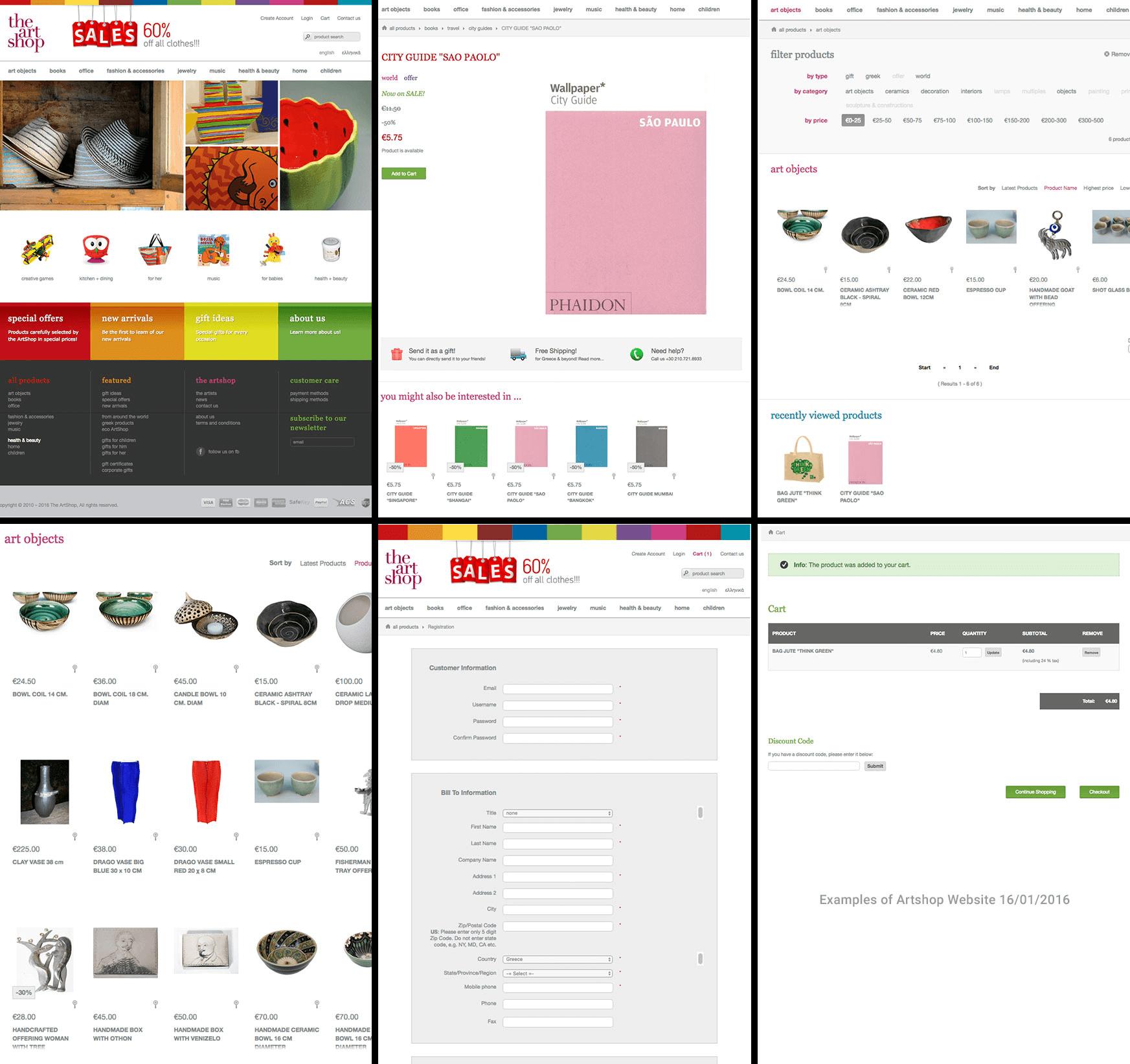 artshop-website-example