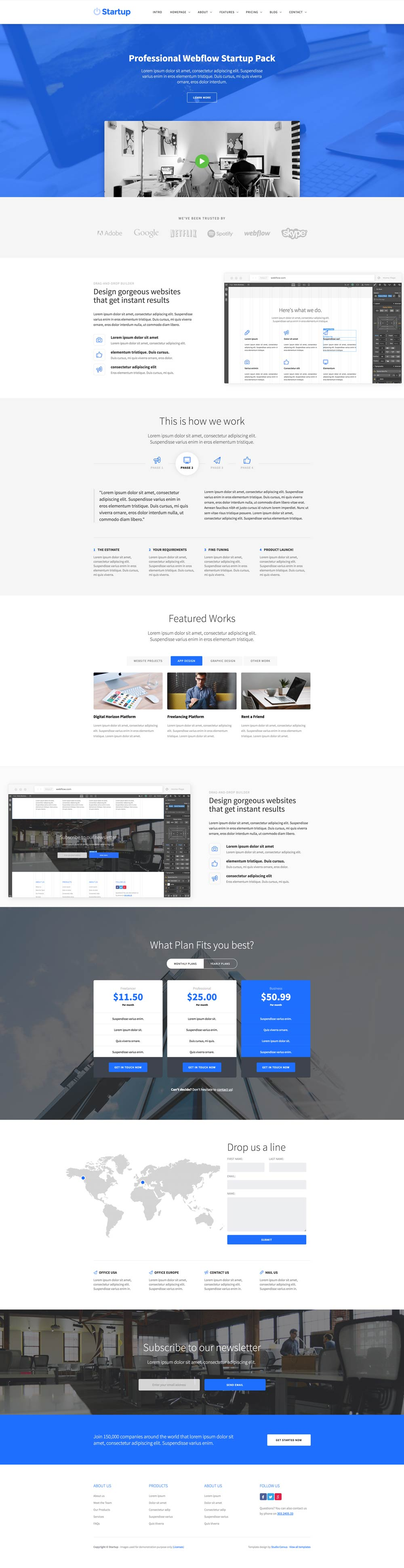 how to tell if website is webflow template