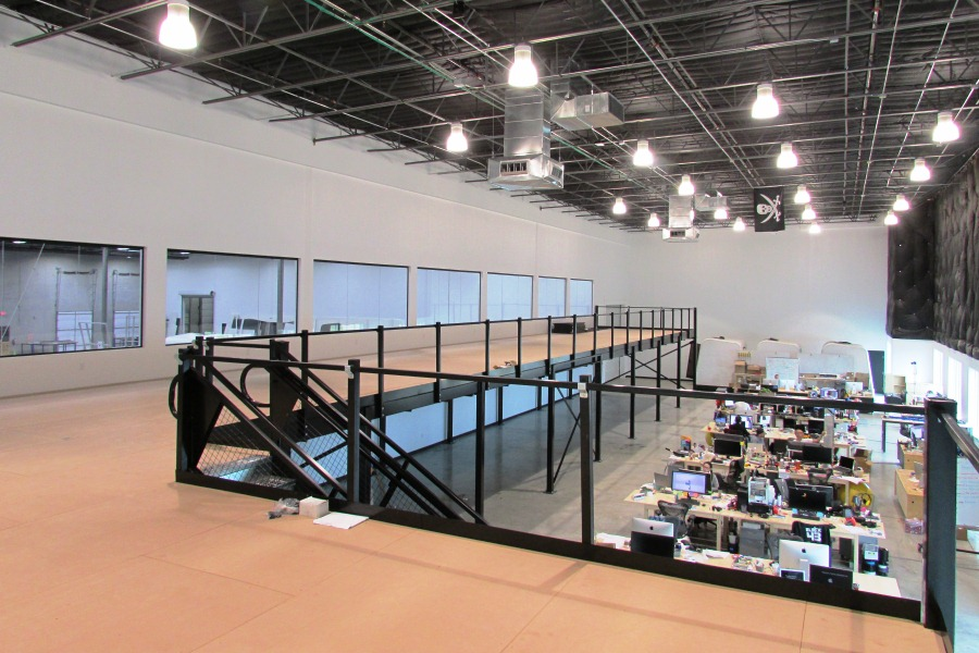 mezzanine office space. they reached out to the mezzanine company help create second level of office space using a mezzanine. p