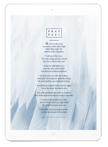 Psalm 91 Tablet Wallpaper