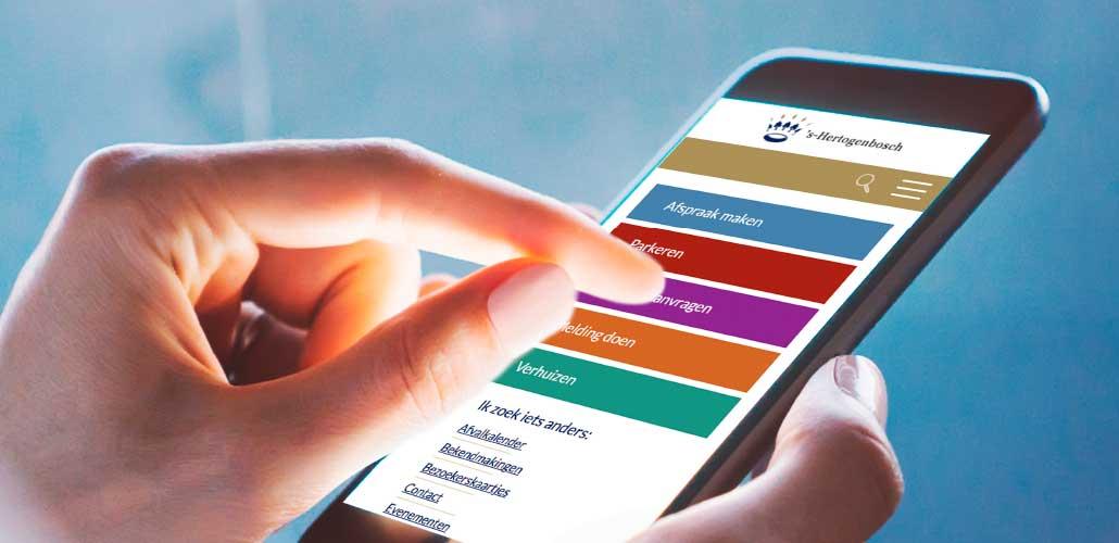 mobile webdesign - gemeente 's-Hertogenbosch