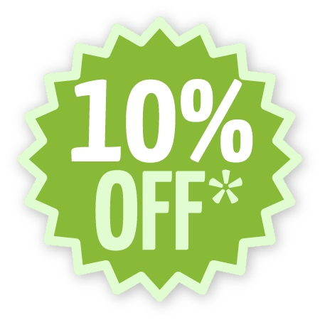 10 percent off first paymnt