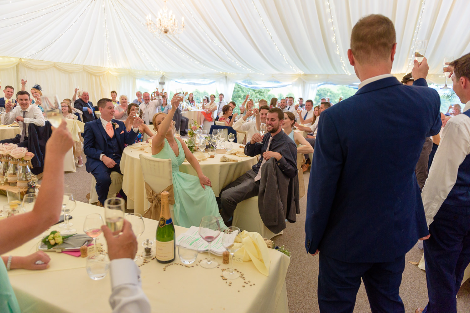 Luxury Marquee at Callow Hall, Derbyshire