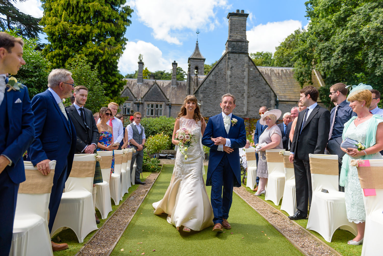 Gold Wedding at Callow Hall, Derbyshire