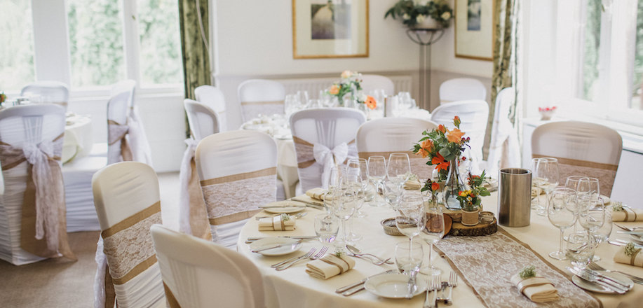 Wedding Breakfast at Callow Hall, Derbyshire