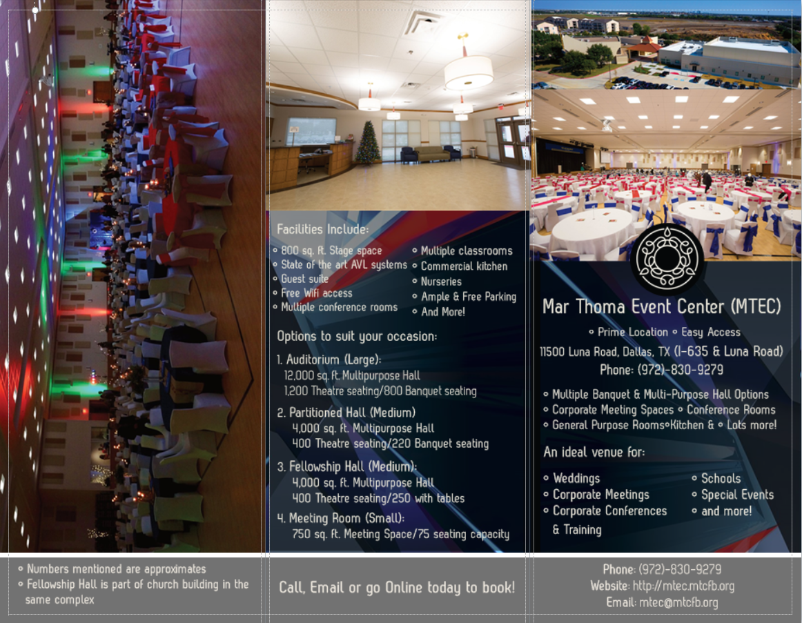 Mar Thoma Event Center Mtec Banquet Halls Conference
