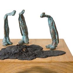 Beeld brons Wereldpraat