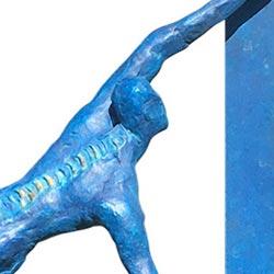 Paaldanser met ruggengraat, beeld, brons