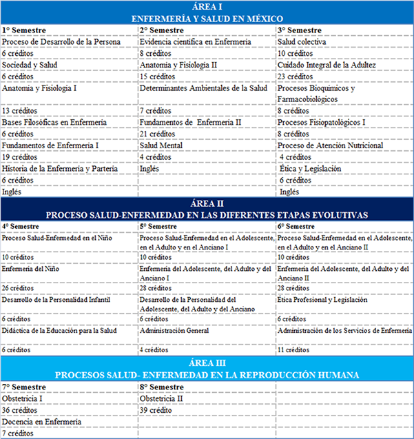 Licenciatura en Enfermeria y Obstetricia