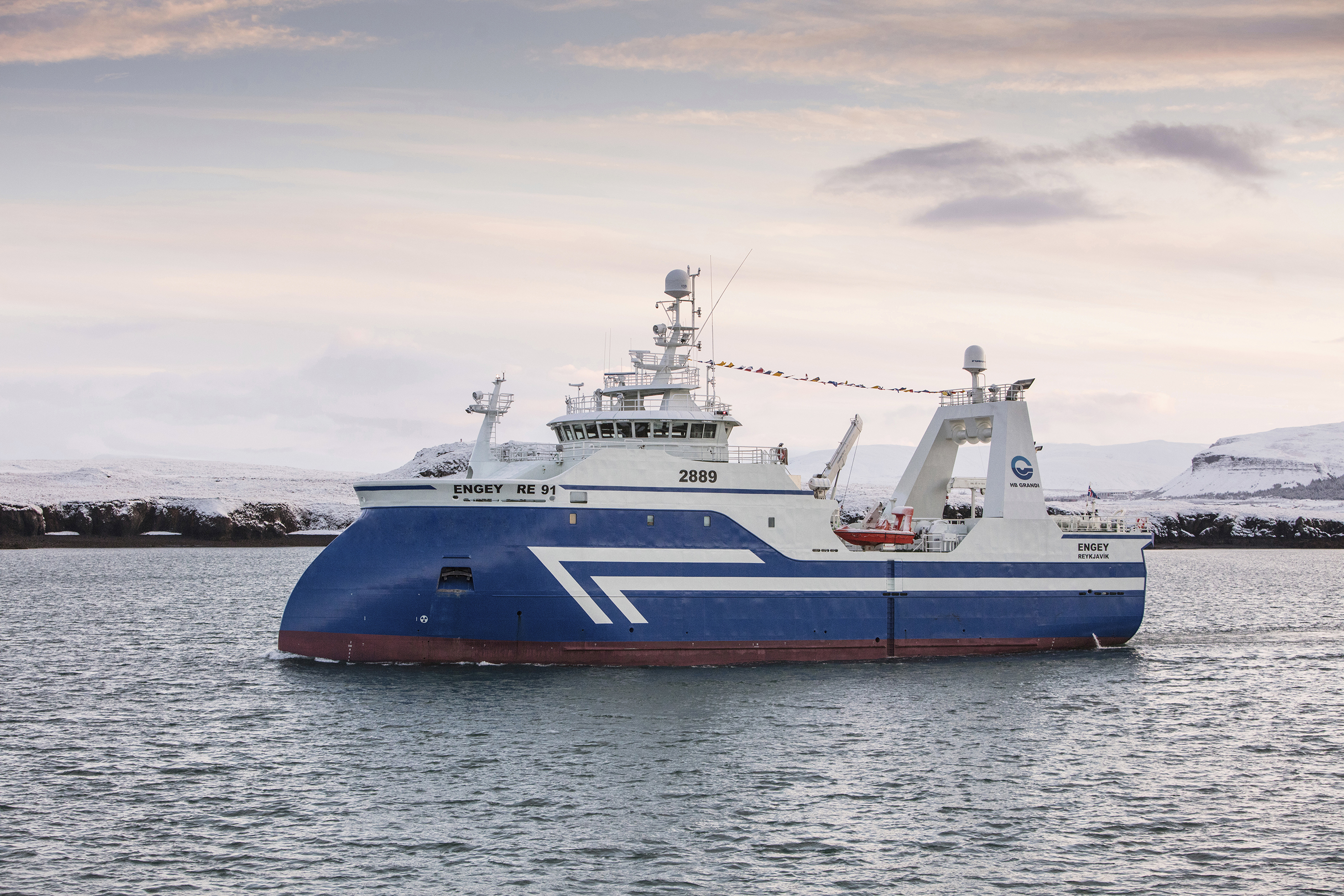 Engey welcomed in Reykjavík harbor today