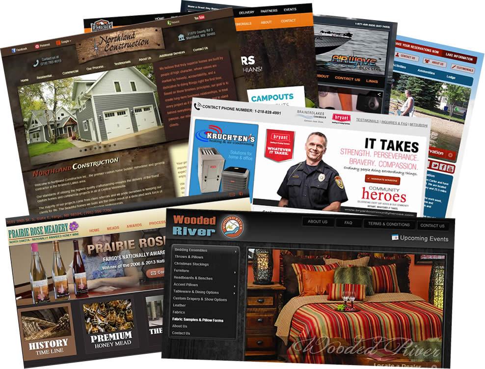 web design portfolio - web development projects