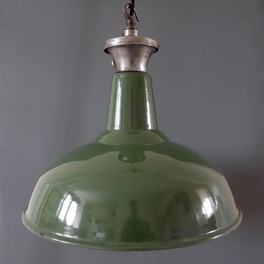 Green industrial pendants by Benjamin