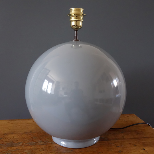 Vintage grey ceramic table lamp
