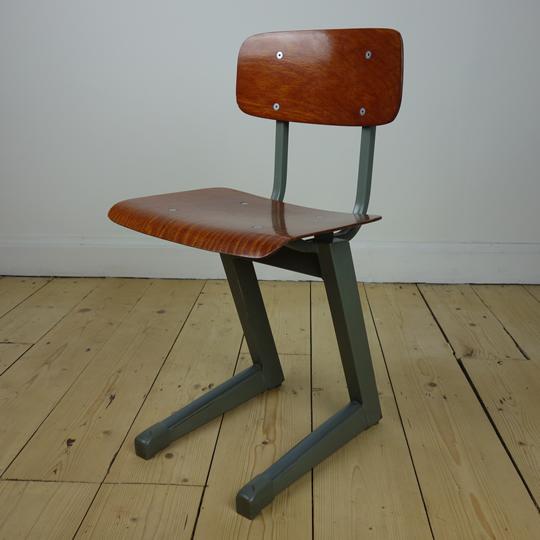 Vintage toddler school chair