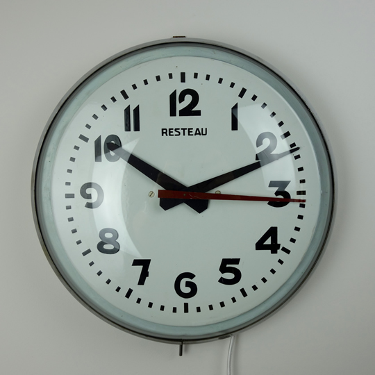 Vintage wall clock Resteau