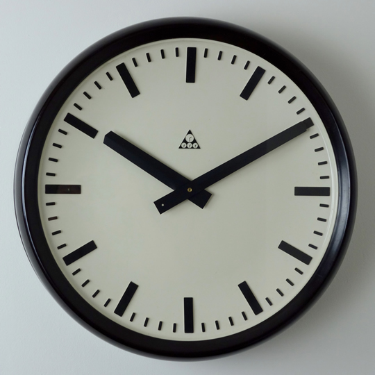 Industrial wall clock by Pragotron