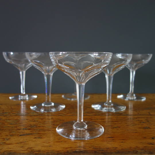 """Nestor"" crystal glasses by V.S.L"