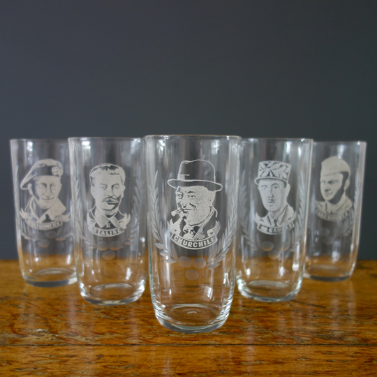 WW2 leaders drinking glasses