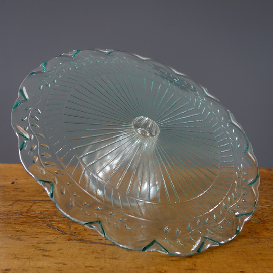 Vintage glass cake stand -A-