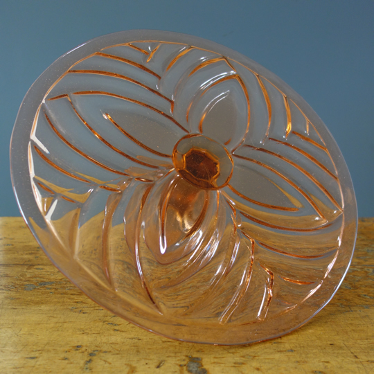Vintage glass cake stand -D-