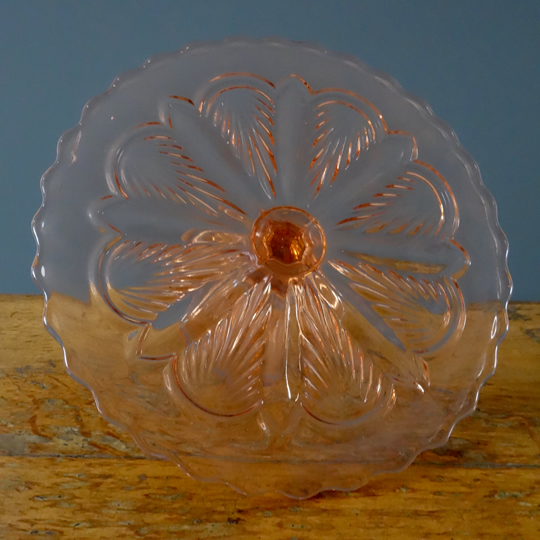 Vintage glass cake stand -F-
